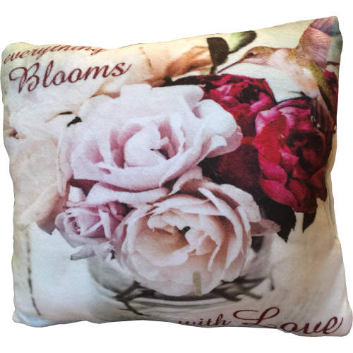 """Country Craft Filled Cushion Roses """"Everything Blooms With Love"""""""
