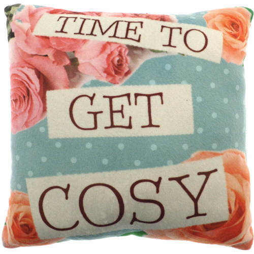 """Country Craft Filled Cushion """"Time To Get Cosy"""""""