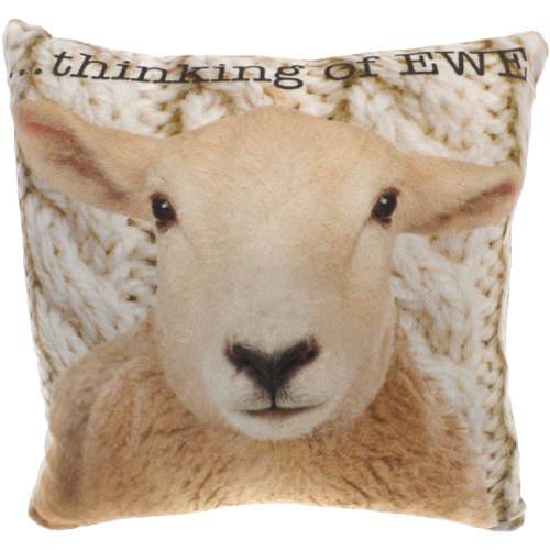 "Country Craft Filled Cushion Sheep ""Thinking Of Ewe"""