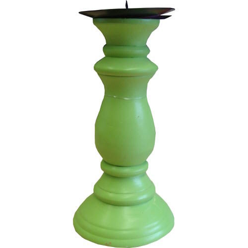 Pillar Candle Holder Green 19cm