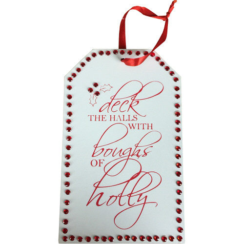 """Jewelled Christmas Sign """"Deck The Halls With Boughs Of Holly"""""""