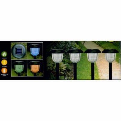GardenKraft Colour Change Solar Light Pack of 4