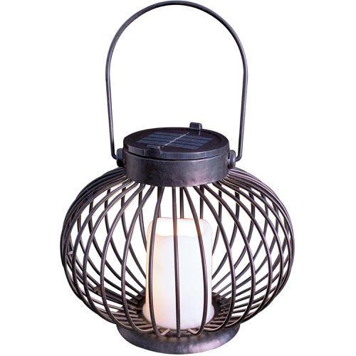 GardenKraft Solar Flickering LED Candle Lantern