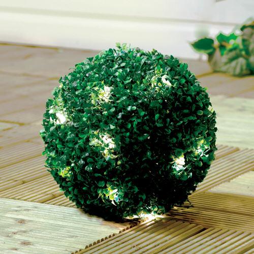 GardenKraft Solar Topiary Ball with 20 LED Lights
