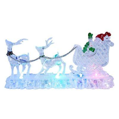 Christmas Colour Changing Reindeer & Sleigh