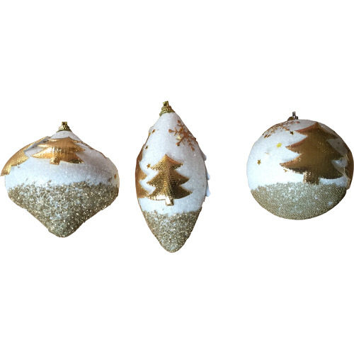 Iridescent Tree Bauble Decoration in Gold (1 Bauble)
