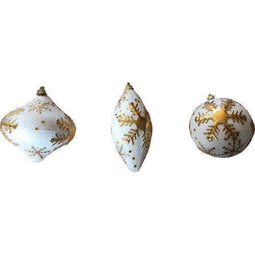 Iridescent Snowflake Bauble Decoration in Gold (1 Bauble)