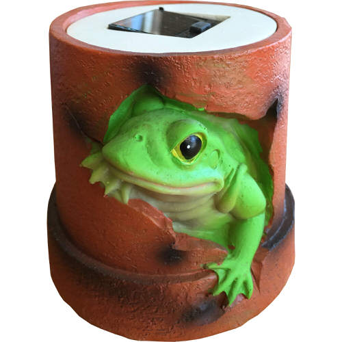 Roots & Shoots Solar Powered Glowing Animal Pot Frog