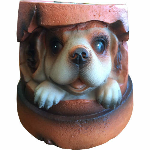 Roots & Shoots Solar Powered Glowing Animal Pot Puppy
