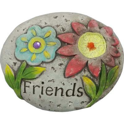 Flower Glitter Message Stone ÒFriendsÓ