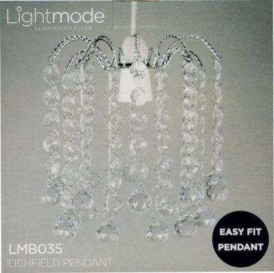 Lightmode Lichfield Ball Droplet Pendant Ceiling Light Lampshade Clear LMB035