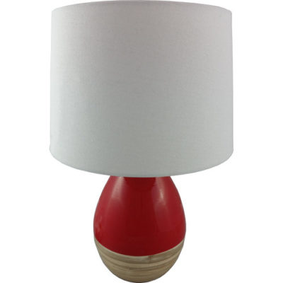Bamboo Table Lamp Red