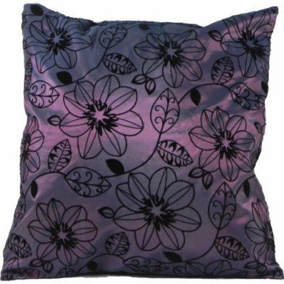 Cushion Cover Flowers Purple