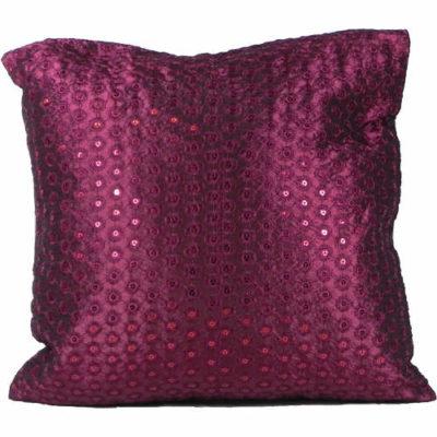 Cushion Cover Sequin Plum