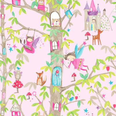 Arthouse Wallpaper Woodland Fairies Pink 667000 Full Roll