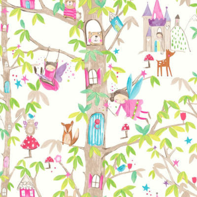 Arthouse Wallpaper Woodland Fairies White 667001 Full Roll