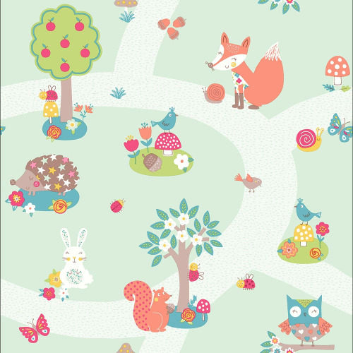 Arthouse Wallpaper Forest Friends Mint 667200 Full Roll