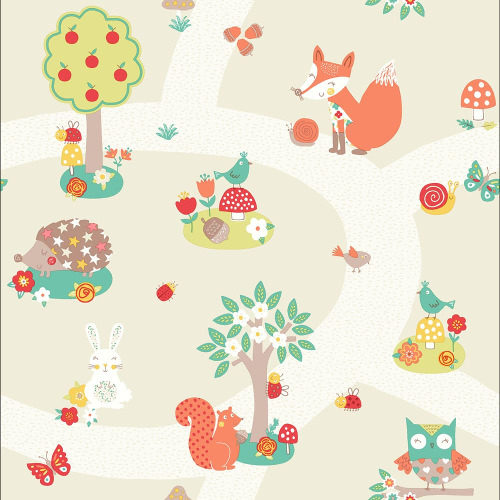 Arthouse Wallpaper Forest Friends Neutral 667201 Full Roll