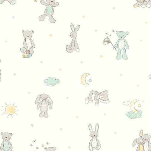 Arthouse Wallpaper Bear Hugs Mint 667400 Full Roll