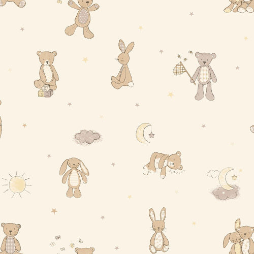 Arthouse Wallpaper Bear Hugs Neutral 667401 Full Roll