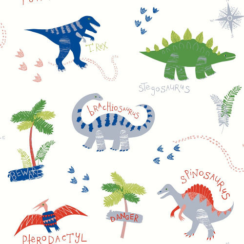 Arthouse Wallpaper Dino Doodles Multi 667500 Full Roll