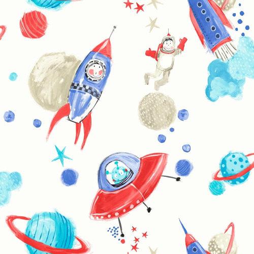 Arthouse Wallpaper Starship Blue & White 668001 Full Roll