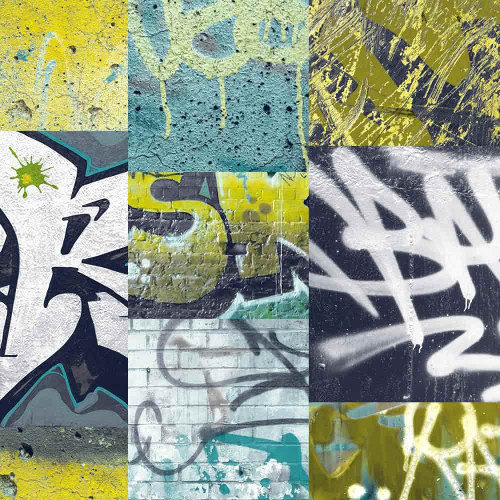 Arthouse Wallpaper Graffiti Lime 668300 Full Roll