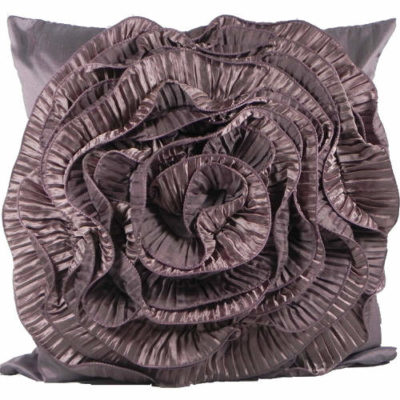 Cushion Cover Ruffles Plum