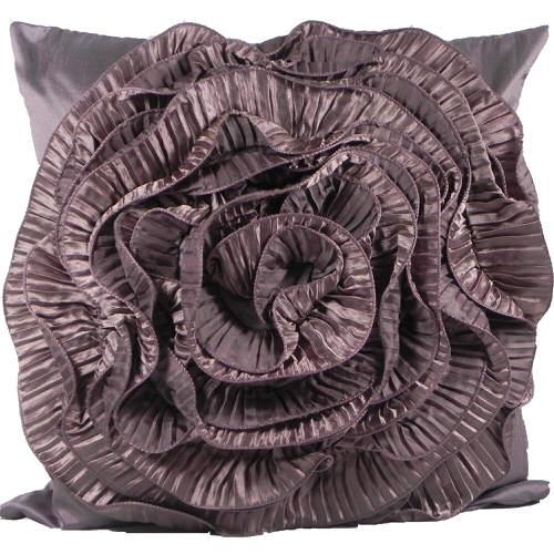 Cushion Cover Ruffles Plum