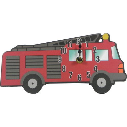 Childrens Fire Engine Clock 24cm