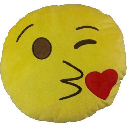 """Plush Emoji Icon Cushion """"Kiss"""""""