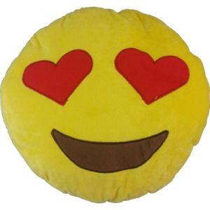"Plush Emoji Icon Cushion ""Love"""