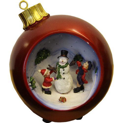 Christmas Scene Fibre Optic Bauble