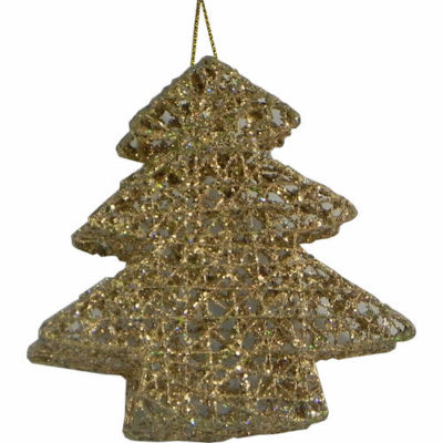 Christmas Tree Shaped Bauble Gold