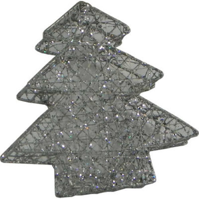 Christmas Tree Shaped Bauble Silver