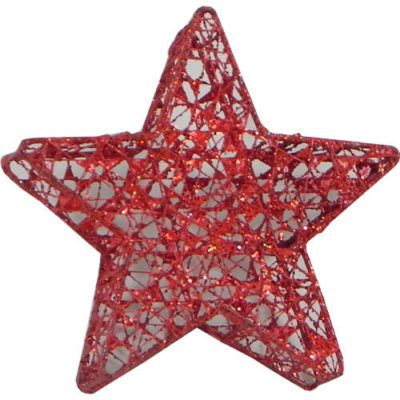 Star Christmas Tree Bauble Red
