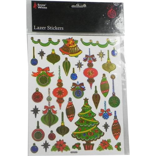 Christmas Bauble Window Stickers