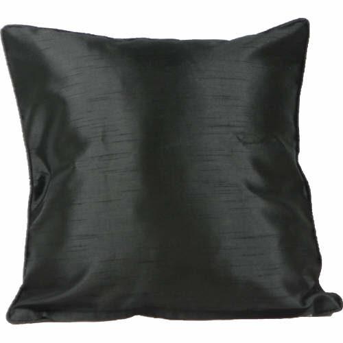 Cushion Cover Faux Silk Black