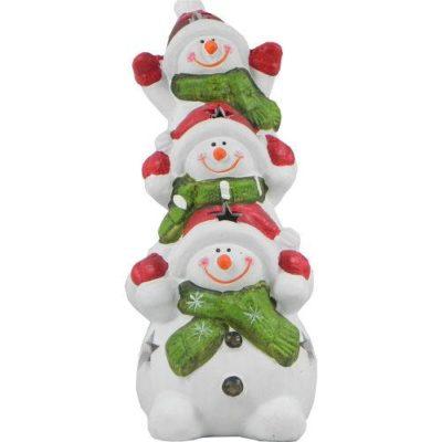 Climbing Snowman Christmas Tealight Holder