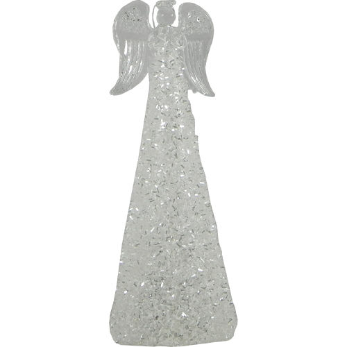 Christmas Light Up Angel with Iridescent Decor & Clear Star 24cm