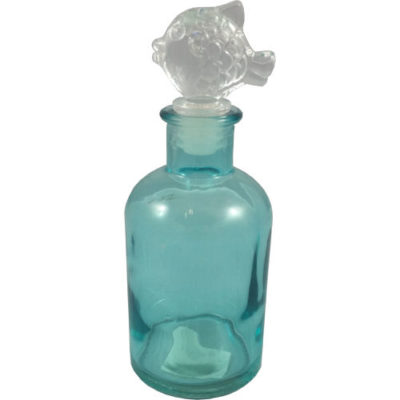 Glass Bottle with Fish Stopper