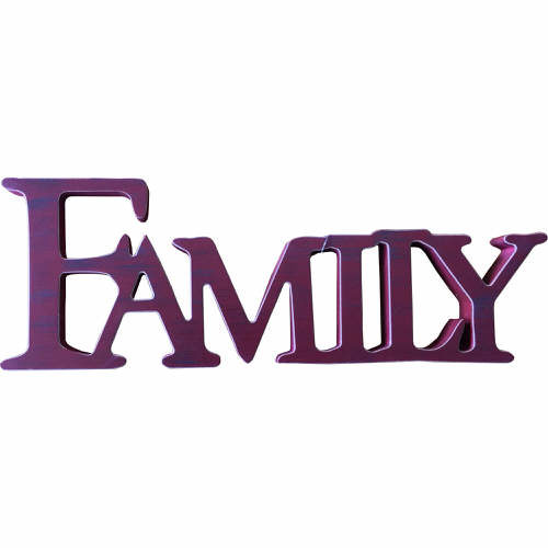 Freestanding ÒFamilyÓ Sign in Red