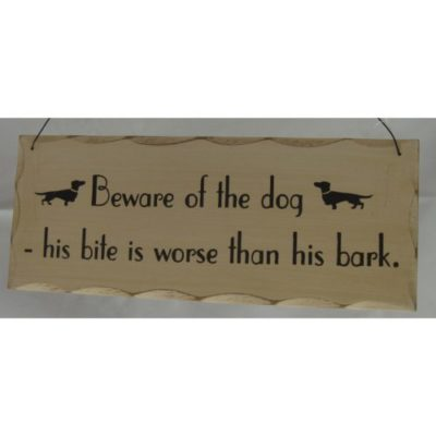 """Giftworks Dog and Cat Signs """"Beware Of The Dog"""""""