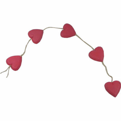 """""""Hanging Heart"""" String in Red"""