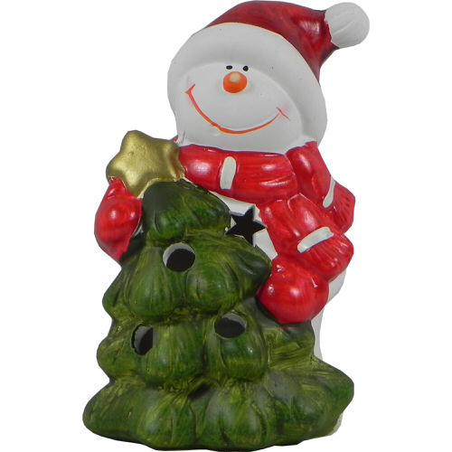 Christmas Tree & Snowman Tealight Holder