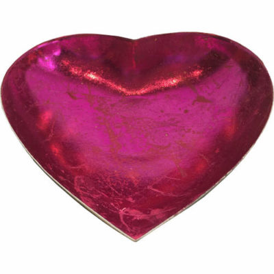 Heart Shaped Candle Bowl In Pink