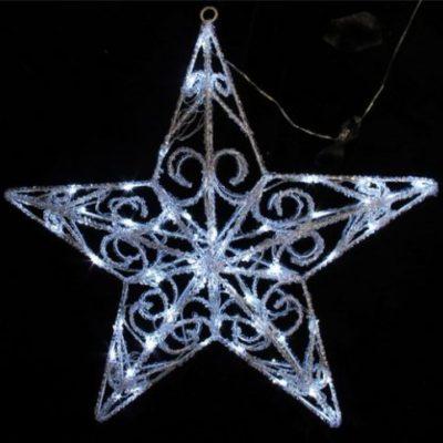 Christmas Light Up Star with 60 Twinkling LED Bulbs