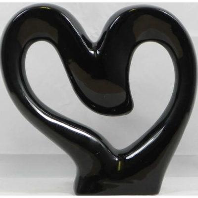 Heart Sculpture Black