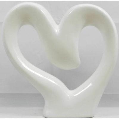 Heart Sculpture White