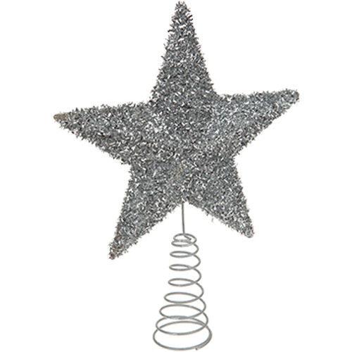 Glitter Tree Top Star - Silver
